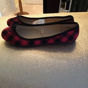 Talbots Buffalo Check Flats Size 9 New